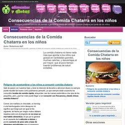 Consecuencias de la Comida Chatarra en los niños