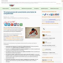 10 consecuencias del conocimiento como factor de competitividad
