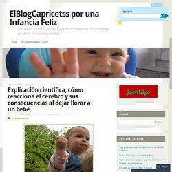 Explicación científica, cómo reacciona el cerebro y sus consecuencias al dejar llorar a un bebé