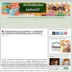 CONSECUENCIAS DEL BURNOUT O SINDROME DEL DESGASTE PROFESIONAL EN LA DOCENCIA