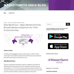 Major Markets End Flat; Broader Markets Outperform for Third Consecutive Day - MarketSmith India