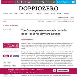 """""""Le Conseguenze economiche della pace"""" di John Maynard Keynes"""