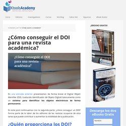 ¿Cómo conseguir el DOI para una revista académica? - KtoolsAcademy