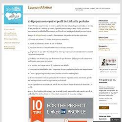 10 tips para conseguir el perfil de LinkedIn perfecto.