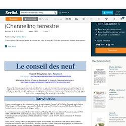 Le Conseil Des Neuf (Channeling terrestre