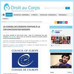 Le Conseil de l'Europe s'oppose à la circoncision des enfants