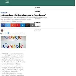 """Le Conseil constitutionnel censure la """"taxe Google"""""""