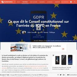 Ce que dit le Conseil constitutionnel sur l'arrivée du RGPD en France
