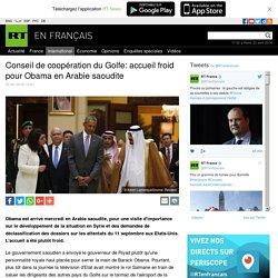 Conseil de coopération du Golfe: accueil froid pour Obama en Arabie saoudite