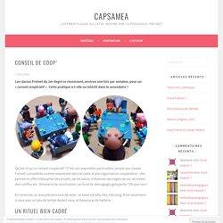 Conseil de coop' – capsamea