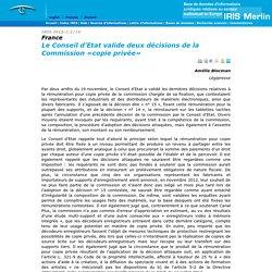 France: Le Conseil d'Etat valide deux décisions de la Commission «copie privée»