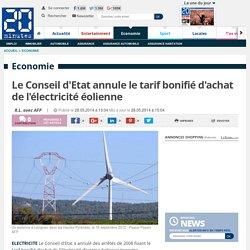 Le Conseil d'Etat annule le tarif bonifié d'achat de l'électricité éolienne