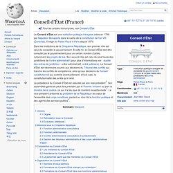 1799 création du Conseil d'État