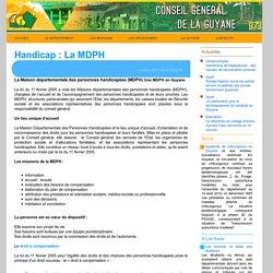 Conseil Général de la Guyane - Handicap