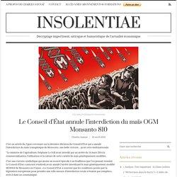 Le Conseil d'État annule l'interdiction du maïs OGM Monsanto 810