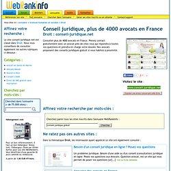 Conseil juridique, plus de 4000 avocats en France - conseil-juridique.net