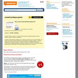 conseil juridique gratuit : conseil-juridique-gratuit.info