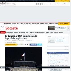 Le Conseil d'Etat s'alarme de la logorrhée législative