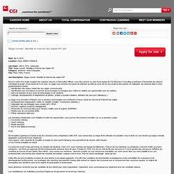 Paris Stage conseil : Mobilité et Internet des objets H/F Job