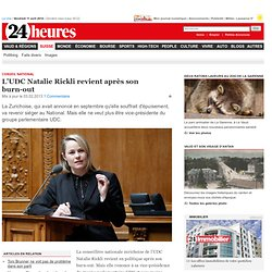 Conseil national: L'UDC Natalie Rickli revient après son burn-out - Suisse