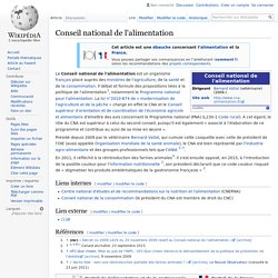 WIKIPEDIA – Conseil national de l'alimentation.