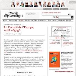 Le Conseil de l'Europe, outil négligé, par Fabio Liberti