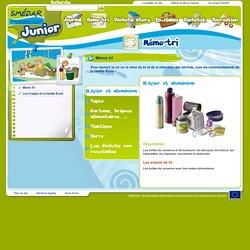 Smedar Junior : conseil sur le tri des déchets: cartons, plastique, verre, déchets non recyclables
