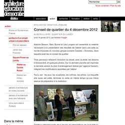Conseil de quartier du 4 décembre 2012 - D I D A T T I C A