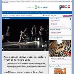 Site du Conseil régional des Pays de la Loire: Spectacle vivant