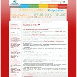 Syntec Conseil en Relations Publiques - Espace presse - Actualités de SCRP