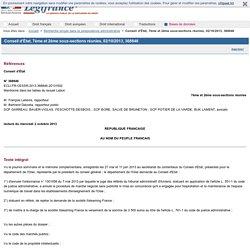 Conseil d'État, 7ème et 2ème sous-sections réunies, 02/10/2013, 368846