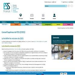 Conseil Supérieur de l'ESS (CSESS)