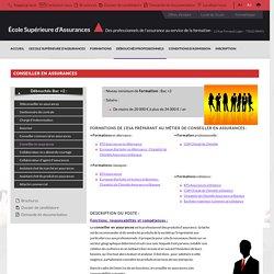 Formation Conseiller en Assurances Conseiller en Assurances