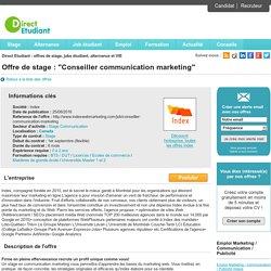 Conseiller communication marketing - Index
