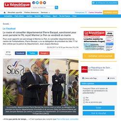 Le maire et conseiller départemental Pierre Bacqué, sanctionné pour avoir parrainé le FN, reçoit Marine Le Pen ce vendredi en mairie