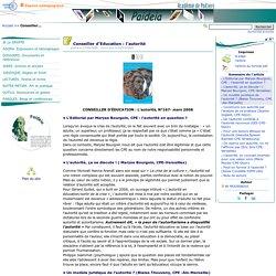 Conseiller d'Education : l'autorité- Paideia, le site des CPE de l'académie de Poitiers