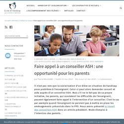 Faire appel à un conseiller ASH : une opportunité pour les parents