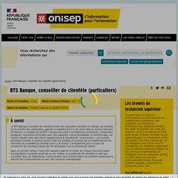 BTS Banque, conseiller de clientèle (particuliers) - Onisep