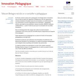 Telecom Bretagne recrute un-e conseiller-e pédagogique