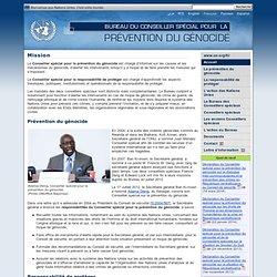 Bureau du Conseiller spécial pour la prévention du génocide