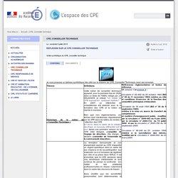CPE, Conseiller technique - L'espace des CPE