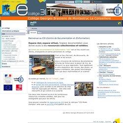 Georges Brassens de Montastruc La Conseillere - Bienvenue au CDI (Centre de Documentation et d'Information)