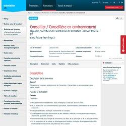Conseiller / Conseillère en environnement - orientation.ch