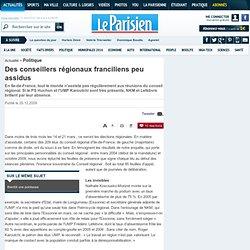 Des conseillers régionaux franciliens peu assidus - Politique -