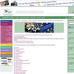Documents des conseillers pédagogiques et des enseignants