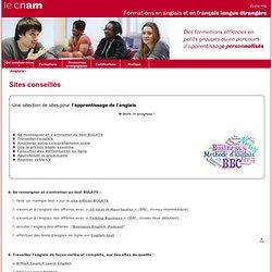 Sites conseillés - Service Anglais - Cnam -