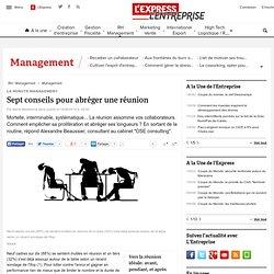 Sept conseils pour abréger une réunion - L'Express