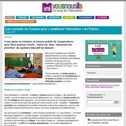 Les conseils du Cnesco pour «améliorer l'éducation» en France
