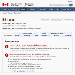 Conseils et avertissements pour Tchad