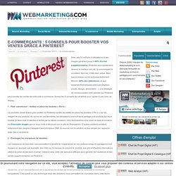 5 conseils pour booster vos ventes grâce à Pinterest